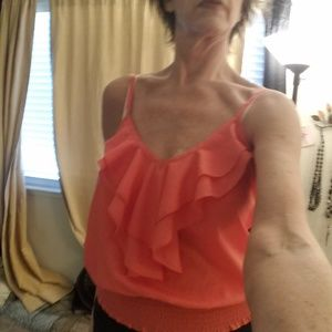 About A Girl Tops - About A Girl Orange Summer top